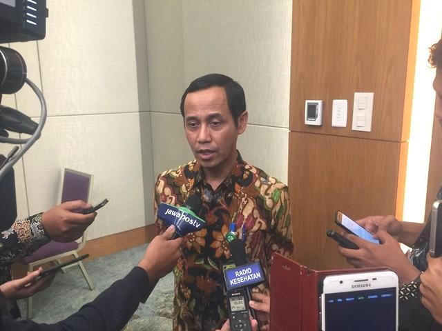 Direktur Jenderal Pencegahan dan Pengendalian Penyakit, dr. Anung Sugihantono, M.Kes dalam acara Rakernas Kemenkes, di ICE BSD, Tangerang, Selasa, 12 Februari 2019. (Foto: Dok. Medcom.id/Kumara Anggita)