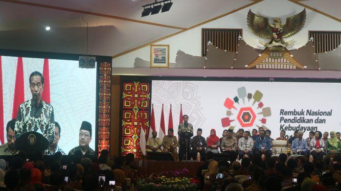 Presiden Joko Widodo saat membuka Rembuk Nasional Pendidikan dan Kebudayaan (RNPK) 2019, Medcom.id/Dheri Agriesta.