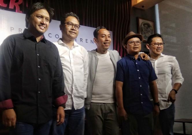 Jikustik formasi awal di Hard Rock Cafe, Jakarta Selatan, Selasa 12 Februari 2019. (Foto: Medcom.id/Cecylia Rura)