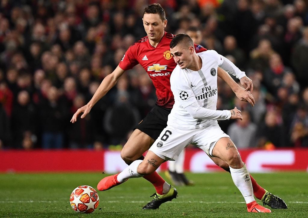 Manchester United vs PSG (AFP/FRANCK FIFE)