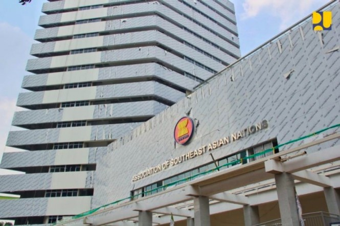 ASEAN Secretariat building in Jakarta. (Photo: PUPR).