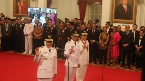 President Jokowi Inaugurates Khofifah as East Java Governor