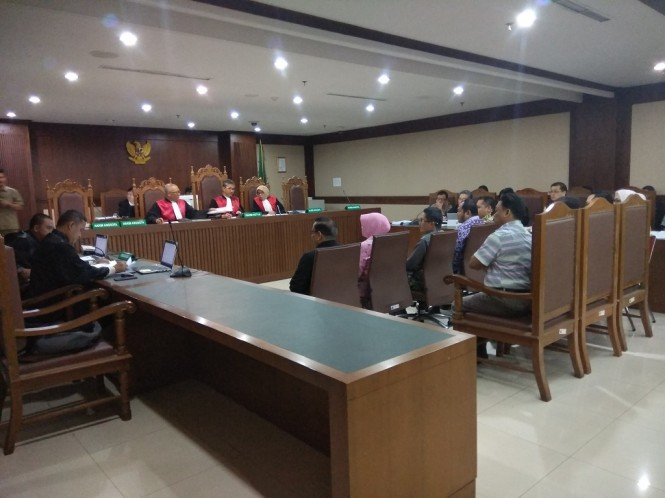 Sidang terkait suap pada anggota Komisi B DPRD Kalimantan Tengah - Medcom.id/Damar Iradat.