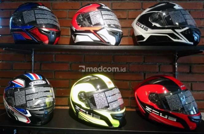Mengenal anatomi helm. Medcom.id/Ekawan Raharja
