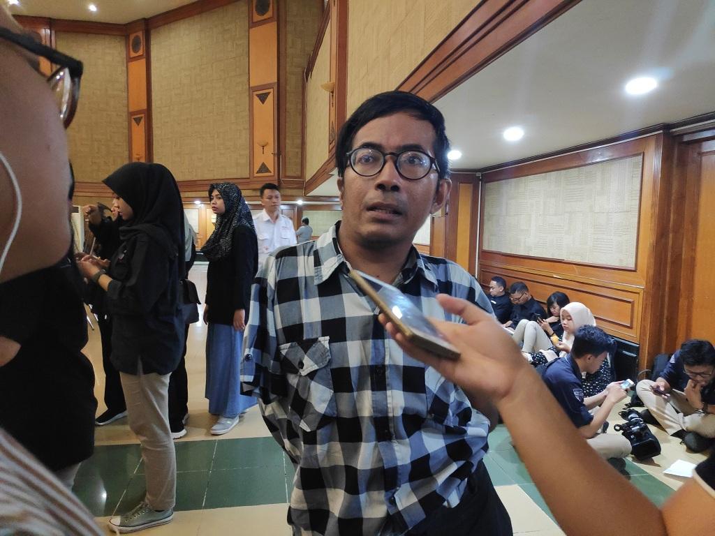 Anggota Perkumpulan Penyandang Disabilitas Indonesia (PPDI), Perkumpulan Penyandang Disabilitas Fisik Indonesia (PPDFI) Vicent Mariano - Medcom.id/Faisal Abdalla.