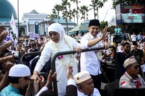 Khofifah-Emil Minta Doa Kiai untuk Pimpin Jawa Timur