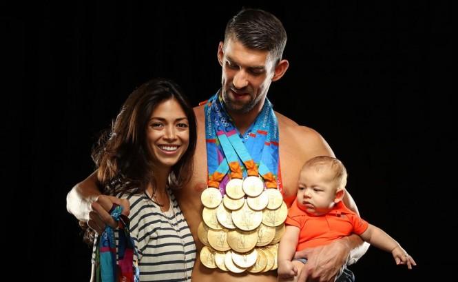 Michael Phelps bersama dengan istri dan anaknya (Foto: Sports Illustrated)