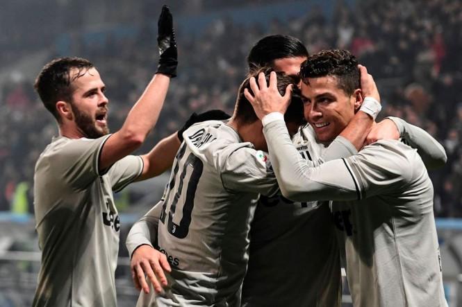 Skuat Juventus. (Foto: AFP/Miguel Medina)