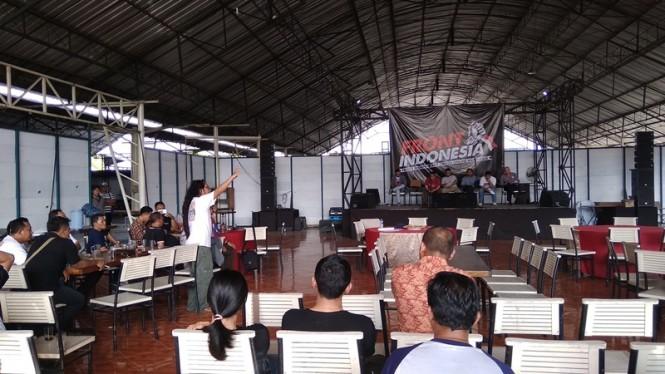 Pertemuan para pengemudi transportasi sistem online se-DIY-Jawa Tengah di Bantul, Jumat, 15 Februari 2019. Nedcom.id/ Ahmad Mustaqim.