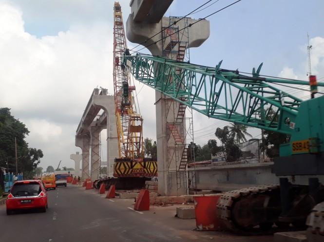 Ilustrasi pembangunan LRT. (FOTO: Media Indonesia)