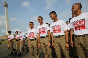 Kemendagri dan BNPP Gelar Apel Sukseskan Pemilu Serentak