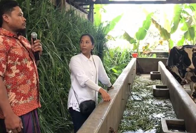 Menteri Negara Badan Usaha Milik Negara Rini Mariani Soemarno di Kecamatan Senduro, Lumajang, Jawa Timur. Istimewa