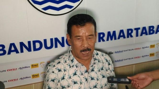 Manajer Persib Bandung, Umuh Muchtar (Foto: medcom.id/Roni Kurniawan)