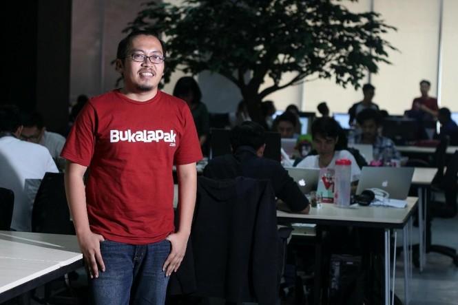 Bos Bukalapak.com Achmad Zaky. Foto: Media Indonesia.