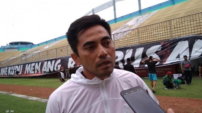 Pelatih PSS Sleman Seto Nurdiyantoro. (Foto: medcom.id/Ahmad Mustaqim)