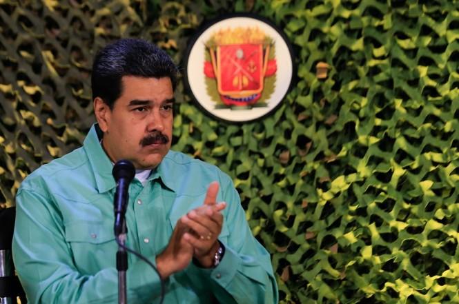 Presiden Venezuela Nicolas Maduro dalam penutupan latihan militer di Caracas, 15 Februari 2019. (Foto: AFP/HO/Venezuelan Presidency)