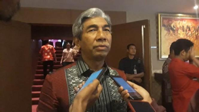 Wakil Menteri Luar Negeri Abdurrahman M Fachir di Kota Tangerang, Banten, Sabtu, 16 Februari 2019. Medcom.id/ Hendrik Simorangkir.