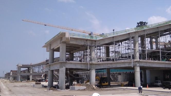 Proses pengerjaan ruang tunggu bandara NYIA Kulon Progo, Yogyakarta, Sabtu, 16 Februari 2019. Medcom.id-Ahmad Mustaqim
