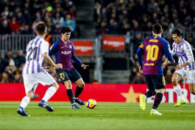 Barcelona sukses menang tipis 1-0 atas Real Valladolid di Camp Nou.(Foto Twitter Barcelona)