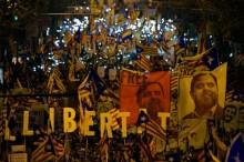 Ribuan Separatis Catalonia Berunjuk Rasa di Barcelona