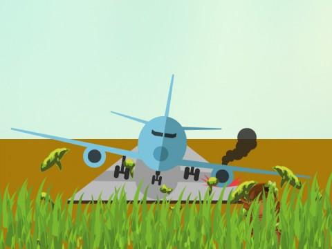 Pesawat Lion Air JT 714 Berhasil Dievakuasi