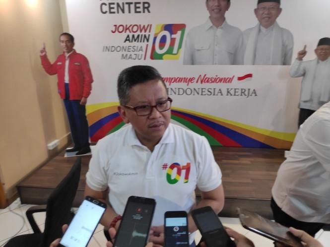 Sekretaris Tim Kampanye Nasional (TKN) Joko Widodo-Ma'ruf Amin, Hasto Kristiyanto. Foto: Medcom.id/M Sholahadhin Azhar