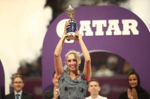 Kalahkan Simona Halep, Elise Mertens Juara Qatar Terbuka