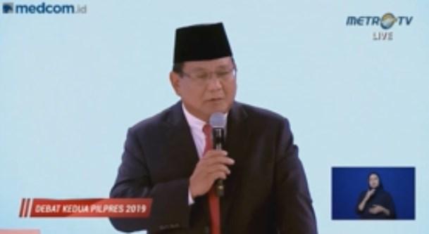 Calon presiden Prabowo Subianto. (FOTO: dok Metro TV)