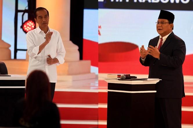 Debat kedua Pilpres 2019 berlangsung cukup panas. Ada topik yang muncul saat debat, seperti soal unicorn, nelayan, perikanan, sertifikat tanah dan bank mikro. MI/Rommy Pujianto