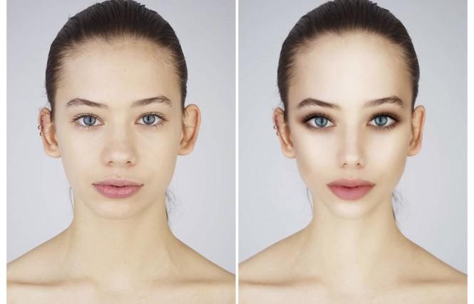 Perbandingan foto asli (kiri) dan foto yang sudah diedit (kanan).
