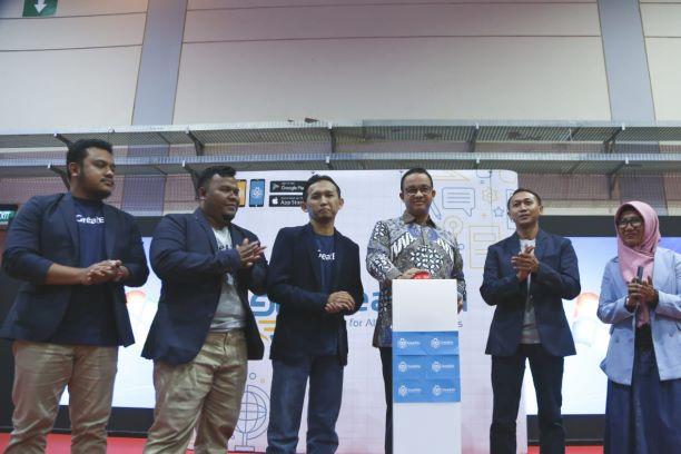Gubernur DKI Jakarta Anies Baswedan saat meluncurkan GreatEdu, Medcom.id/Intan Yunelia.