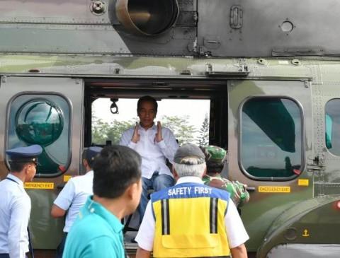 Jokowi Pantau Sosialisasi Tanggap Bencana di Banten