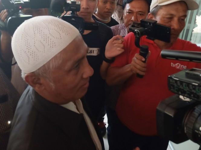 Kuasa Hukum Slamet Ma'arif, Achmad Midan. Medcom.id/Budi Arista Romadhoni