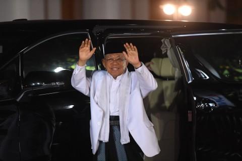Ma'ruf Yakin Jokowi Tak Pakai Alat Bantu saat Debat