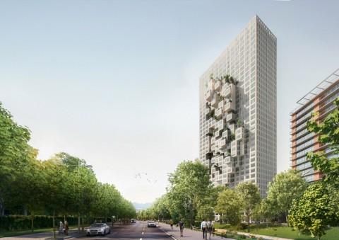 Uniknya Downtown One, Gedung Pencakar Langit Berbentuk Piksel