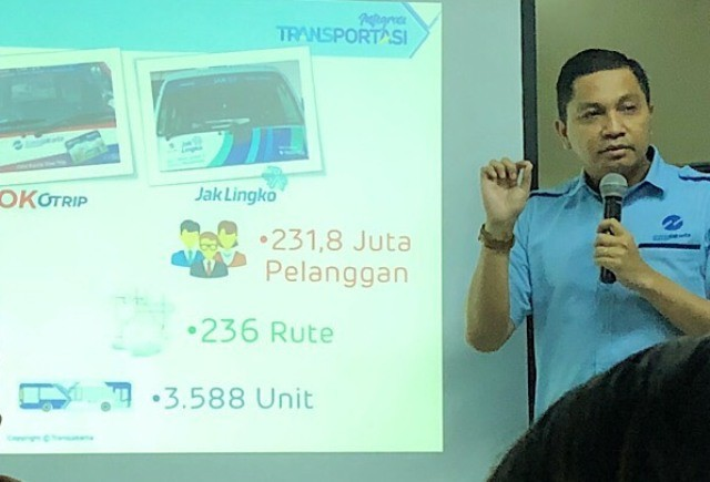 PT Transportasi Jakarta operational director Daud Joseph (Photo:Medcom.id/Theo)