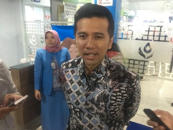 Wagub Jatim Emil Elestianto Dardak saat ditemui di RSIA Kendangsari Surabaya. Medcom.id/Amaluddin