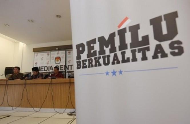 ILUSTRASI: Slogan Pemilu Berkualitas KPU RI/Antara/Akbar Nugroho Gumay
