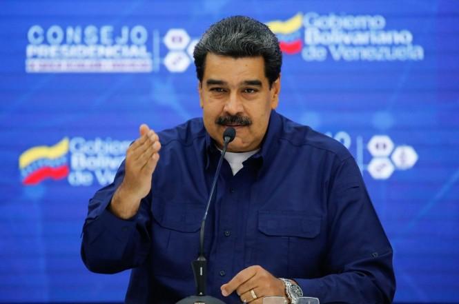 Presiden Venezuela Nicolas Maduro dalam pertemuan dengan sejumlah menteri di Caracas, 18 Februari 2019. (Foto: AFP/HO/Venezuelan Presidency)