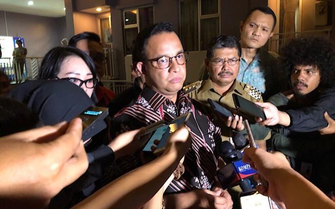 Gubernur DKI Anies Baswedan saat menginjau Apartemen Lavande, Jakarta Selatan. Foto: Medcom.id/Theofilus Ifan Sucipto.