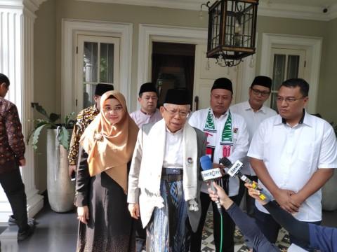 Ma'ruf: Jokowi Hanya Meneruskan Pernyataan Prabowo