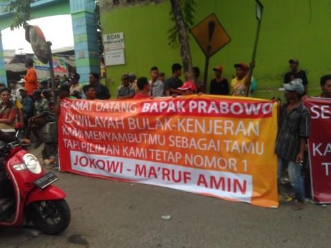 Pendukung Jokowi di Bulak 'Sambut Hangat' Prabowo