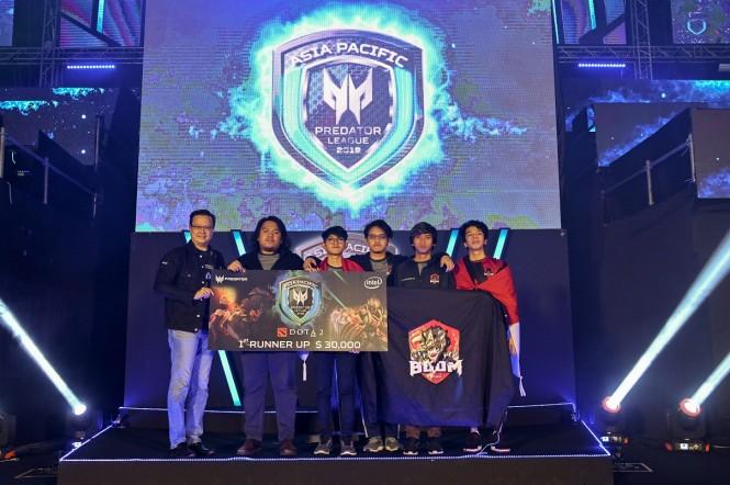 BOOM.ID sebagai juara kedua di Acer APAC Predator League 2019.