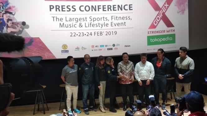 Jumpa pers pameran olahraga terbesar se-ASEAN bertajuk Goifex. (Foto: medcom.id/Rendy Renuki)