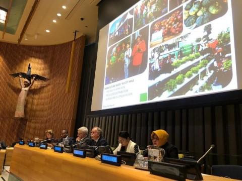 Risma Pamer Ketahanan Pangan Surabaya ke PBB