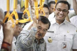 Jusuf Kalla Jajal MRT Jakarta