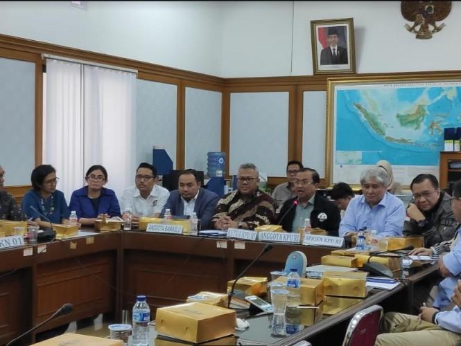 KPU mengadakan rapat evaluasi debat kedua Pilpres 2019 - Medcom.id/Faisal Abdalla.