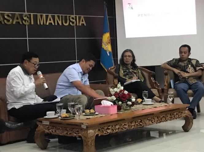 Tim BPN Prabowo-Sandi menyampaikan visi misi pada Komnas HAM - Medcom.id/Dian Ihsan Siregar.