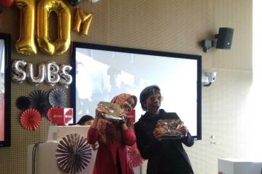 Tembus 10 Juta Subscriber, Ria Ricis dan Atta Halilintar Raih Penghargaan Spesial
