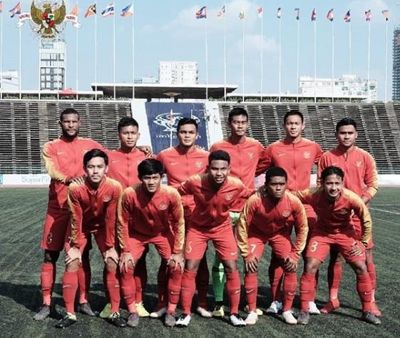 Timnas U-22 sebelum menghadapi Malaysia. (Foto: dok. PSSI)